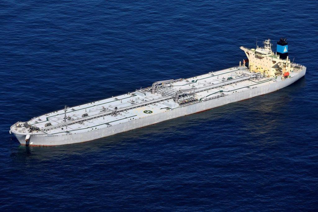 Tankowiec mieszczący 2 miliony baryłek ropy