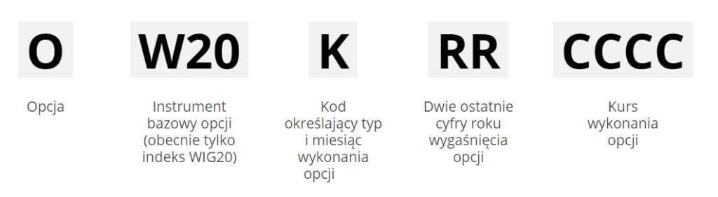 Konstrukcja nazwy opcji na GPW