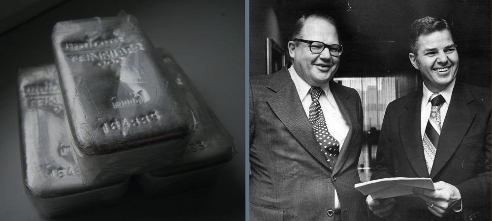 Jak rynek srebra został zmonopolizowany (prawie) przez braci Hunt