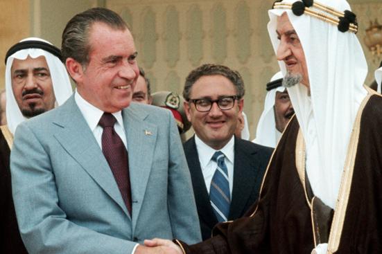 Richard Nixon oraz Fajsal ibn Abd al-Aziz Al Su'ud